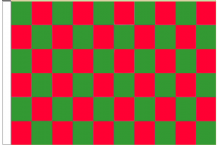 Green And Red Check 5' x 3' Larger Sleeved Flag